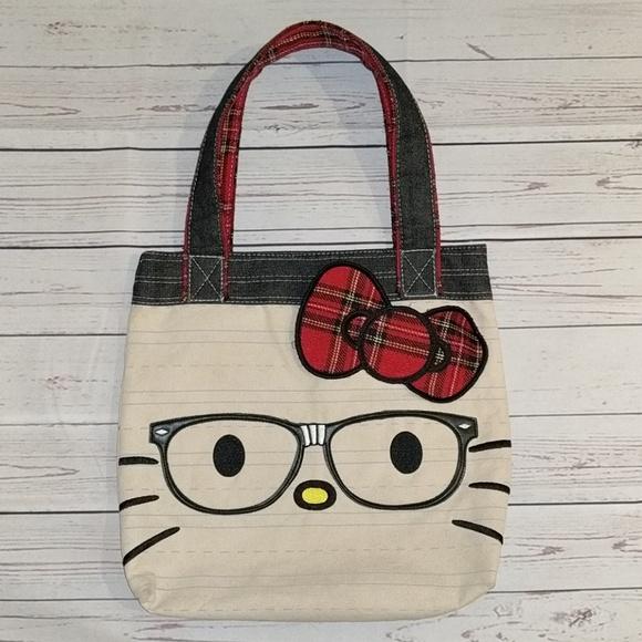 a8faa45b35 Hello Kitty Handbags - Hello Kitty I love nerds totebag